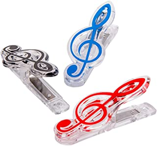 Healifty 3pcs Music Book Clip Music Symbol S Shape Page Hold