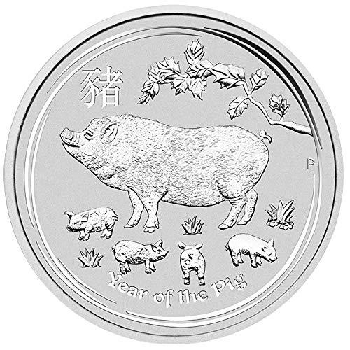 Lunar II Schwein Pig 2019 1 Unze Silber Münze Silbermünze in Kapsel