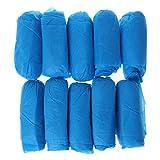 Guoyy La zapatilla desechable de 100 unidades cubre las mantas no tejidas de tela de limpieza de suelo de limpieza de interiores, color azul