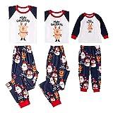 Pijamas Mujer Camisón Xmas Moose Christmas Family Juego De Pijamas A Juego Ropa De Dormir para Niños Adultos Ropa De Dormir Pjs Photgraphy Prop Ropa De Fiesta Kids-80 Multi