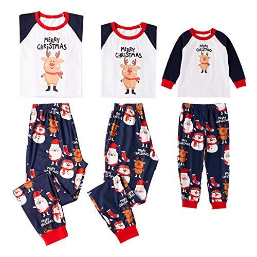 Pijamas Mujer Camisón Xmas Moose Christmas Family Juego De Pijamas A Juego Ropa De Dormir para Niños Adultos Ropa De Dormir Pjs Photgraphy Prop Party Clothing Moms Multi