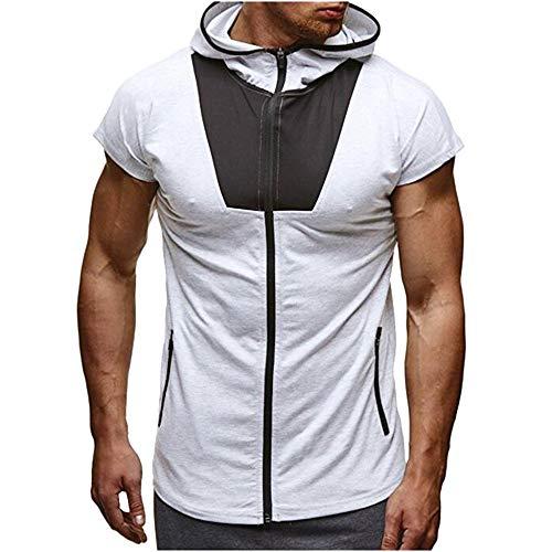 Herren Tank Top Tanktop Tankshirt Ärmellos Bodybuilding Figur formend Kapuzenpullover Sport Fitness Muskelshirt Achselshirt Shirt Unterhemd T-Shirt Weste XL