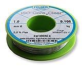Felder FCL100100Ni+ Lötzinn ISO-Core Lötdraht Clear Sn100Ni+ Sn99,3CuNiGe 1 mm auf 100 g Spule