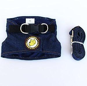Tsacte Gilet de cowboy Sangle de poitrine de combinaison pour chien Chien Chien Traction Conséquence Chien Corde carré Cowboy Chien Chaîne