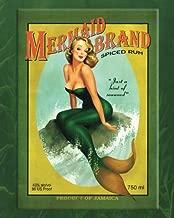 Mermaid Brand Spiced Rum Notebook: Vintage Pin-Up Girl Journal Sexy Mermaid Lined Book