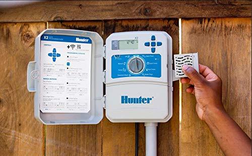 HUNTER - Programador de riego eléctrico con controlador de riego X2 1401 de 14 vías, compatible con WiFi con el módulo de varita (no incluido)