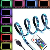 XERGY® 5V USB LED LED Flexible Strip Multicolor Options/Mode TV Background Lighting 5050 RGB IP65 400 cm- 30 LED/M with 17 Key Controller (Multi Color, 4 Meter)