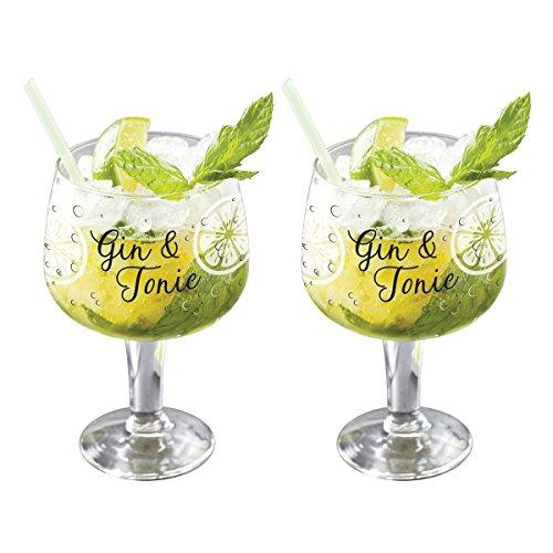 Juego de 2 vasos de globo de Copa Gin & Tonic G&T, 650 ml