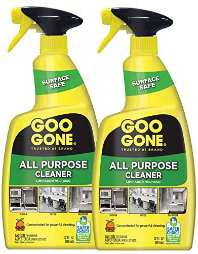 Goo Gone All-Purpose Cleaner - Removes Dirt, Grease, Grime and More - 32 Ounce - [2 Pack]