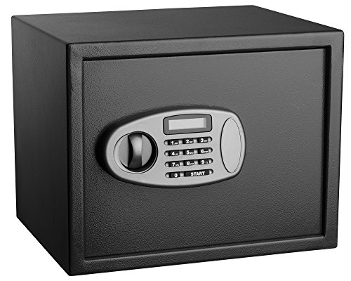 AdirOffice Security Safe with Digital Lock - Black - 1.25 Cubic Feet