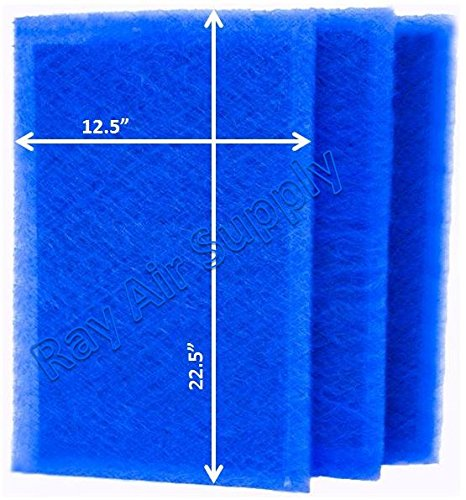 Review RAYAIR SUPPLY 14x25 ARS Rescue Rooter Air Cleaner Replacement Filter Pads 14x25 Refills (3 Pa...