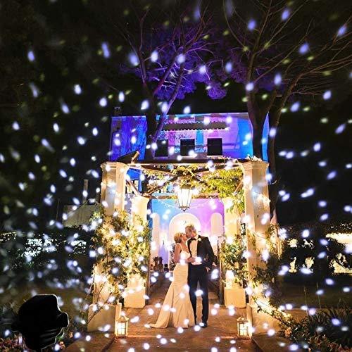 Copo de nieve LED Proyector de Navidad Luz Nevadas Impermeable IP65 Atención al aire libre Navidad Copo de nieve Copo de nieve con control remoto for Halloween Bodas Partido Jardín Paisaje