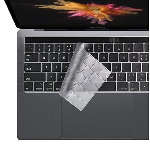 i-Buy Ultra Dünn TPU Tastaturschutz Kratzschutz Kompatibel für MacBook Pro 15 mit Touch Bar( A1990 / A1707), 2018 2017 2016 Freisetzung - EU Layout, Klar