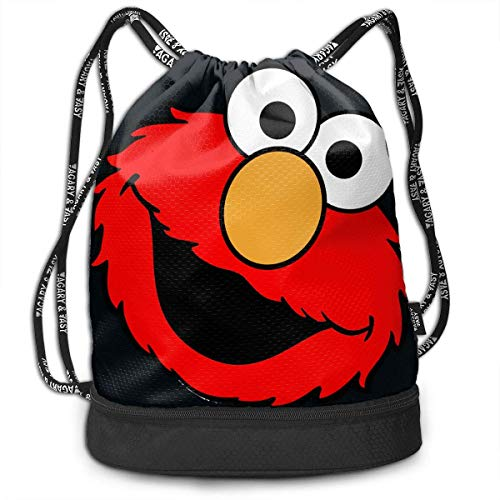 Rucksäcke,Sporttaschen,Turnbeutel,Daypacks, Drawstring Bag Sport Gym Travel Bundle Backpack Pack Beam Mouth Shoulder Bags, Elmo's World Running