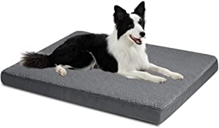 Large Dog Bed with Removable Washable Cover for Dogs and Cats Up to 35kg, Orthopedic Egg-Crate Foam, Water-Resistant Pet M...