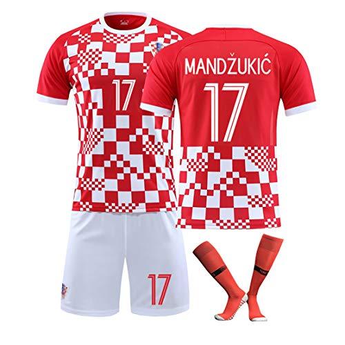 Fútbol Jersey Croacia Equipo Nacional Traje de Temporada Copa de Europa Uniformes de fútbol personalizados-red17-L