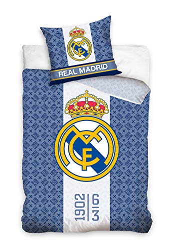 Real Madrid RM182024 - Juego de Cama (160 x 200 + 70 x 80 cm)