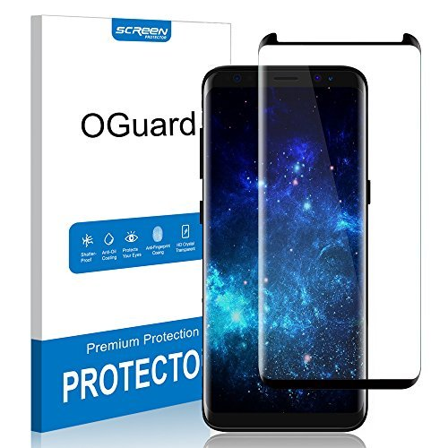 Galaxy S8 Tempered Glass Screen Protector, Oguard 98% Coverage [Easy Application] [Case Friendly] Screen Protector fit for Samsung Galaxy S8