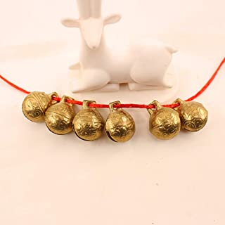 A-Lkatsthy Pack of 20 Bell, Christmas Bell,Pet Collar Charms,Brass Bell, Hanging Bell, for: Small pet Collar Bell/doorbell/Decoration/Christmas Decoration/Clothing Decoration, 0.71 inches