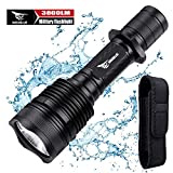 WISSBLUE H1 3800 Lumen Rechargeable Tactical LED Flashlight Military Grade With...
