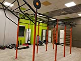 BodyStrongFitness - Estructura inclinada para jaula de entrenamiento con anclajes al suelo/pared, 120cm de ancho