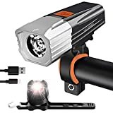 victagen USB Rechargeable Bike Light & Free Taillight,Powerful 1000 Lumens Bike Front and Rear...