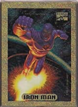 1994 Marvel Masterpieces Iron Man Gold Holofoil - Limited Edition Insert Card Only Found in Jumbo Packs - Shipped in an Acrylic Screwdown Holder