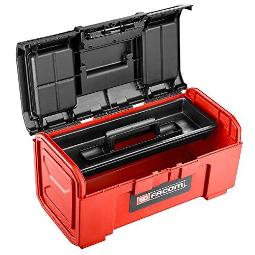 FACOM BP.C24N caja de herramientas de plástico, autocierre, modelo pequeño de 24 pulgadas, 260 mm de altura, 273 mm de ancho, 603 mm de longitud