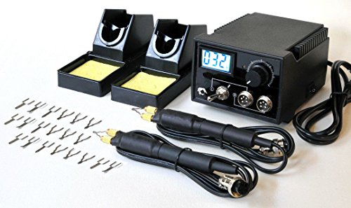 Professional Woodburning Detailer 60W Tool with Digital Temperature Control and 20 Tips (2 pens)