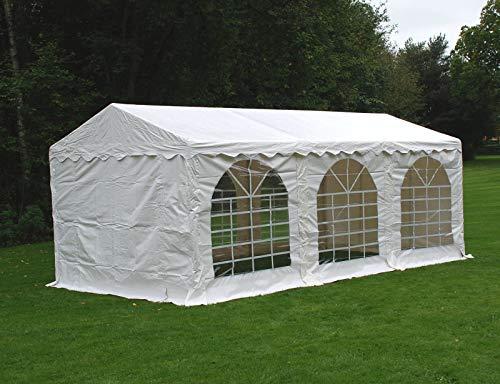Dancover Partyzelt Pavillon Festzelt Original 3x6m PVC, Weiß