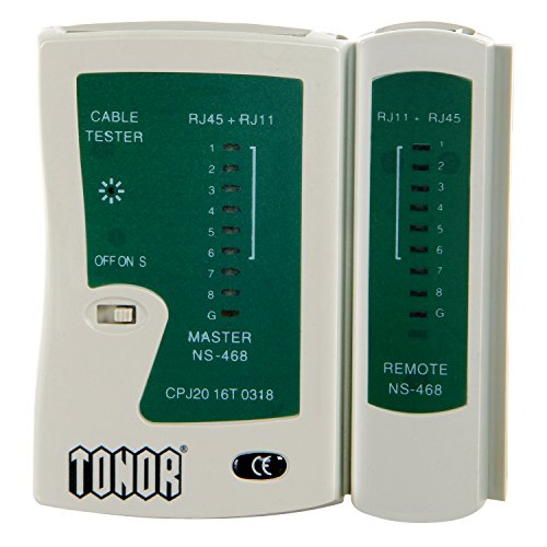Tonor TM RJ45 RJ11 RJ12 CAT5 CAT 6 UTP Network Lan Cable Tester Test Tool