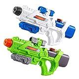 TOYMYTOY Pistola de Agua Pistola de Agua para Niños Pistola de Chorro de Agua para Niños Piscina de Verano Arena Lucha de Agua Al Aire Libre 2 Paquetes