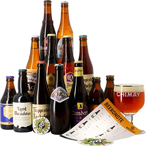 Craft Beer Box - Biertasting - Probierpaket (13 Craft Biere Trappist, 1 Glas)