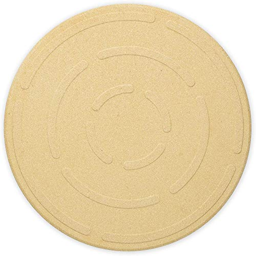 SODIAL 12 Zoll Pizzastein zum Backen-Cordierit Pizza Stein Platte für Grill Grill Ofen-Kochen und Pizza Brot K?Se Runde Servieren