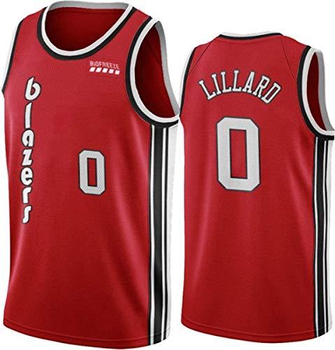 WSWZ Camisetas De La NBA para Hombre - Blazers 0# Damian Lillard Camiseta De Baloncesto De La NBA - Chalecos Cómodos Casuales Camisetas Deportivas Camisetas Sin Mangas,D,S(165~170CM/50~65KG)