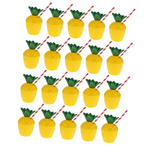 Purchase joyMerit 20 Packs Pineapple Cups for Hawaiian Luau Kids Party with Straws