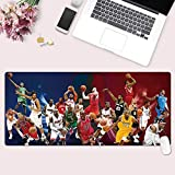 ZDVHM Esteso Gaming Mouse Pad NBA Basketball Lakers Kobe James Curry Jordan Grande Tastiera Tappetino Mouse Impermeabile Antiscivolo Gioco Mousepad for Office Home PC Desktop Tabella Mouse Pad