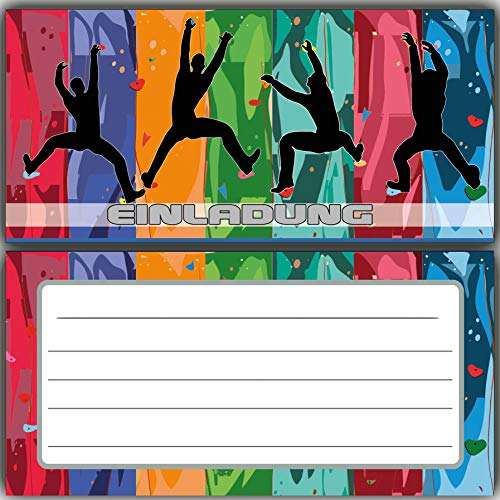 Klettern Einladungskarten zum Geburtstag Einladung Kindergeburtstag bouldern Kletterhalle Klettergeburtstag Jungen Mädchen Kinder Karten kletterpark