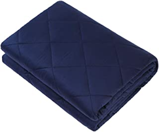 Hypnoser Weighted Blanket (15 lbs, 48''x72'', Twin Size) for Adult, Kids | 2.0 Diamond Weight Pocket Heavy Blanket | 100% Cotton Material with Glass Beads