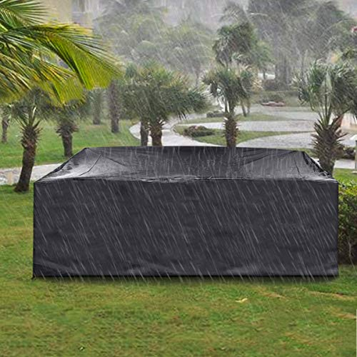 king do way Outdoor Patio Furniture Covers, Extra Large Outdoor Furniture Set Covers Waterproof, Windproof, Tear-Resistant, UV, Fits 12-14Seat (Upgraded Version ) 124'X70'X29'