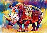 bbnnmm - Puzzle de hipopótamo Pintado para Adultos, 1000 Piezas, Rompecabezas de hipopótamo Pintado, 75 x 50 cm decoración de la habitación