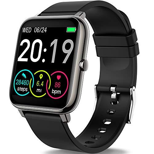 Smartwatch, Motast Reloj Inteligente Mujer Hombre Niño, IP67 Impermeable Pulsera Actividad con Fitness Tracker, Monitor de Sueño, Presión Arterial Pulsómetro, Contador de Caloría con Pantalla Táctil