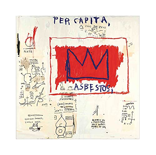 《Sin título (15)》 Jean-Michel Basquiat Cuadro en Lienzo| Lienzos Decorativos | Cuadros Decoración Dormitorios | Cuadros Decoración Salón (45x45cm (18x18inch), Sin marco)