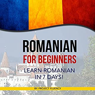 Romanian for Beginners audiobook cover art