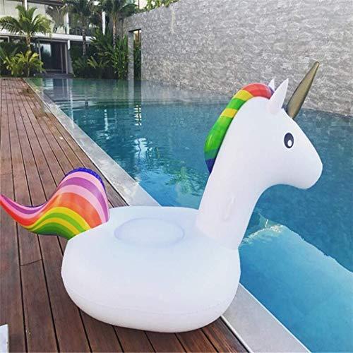 BHDesign Aufblasbares Pool Schwimmbad Tragbare Pegasus Giant Pool Float Spielzeug Schwimmring Matratze Erwachsene Kinder Strand Wasser Familienfeier white-270 * 245 * 115cm
