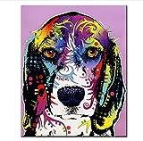 Wc-asdcc 5D DIY Diamant Broderie Animal Beagle DIY Diamant Peinture Chien Point De Croix Complet Strass Mosaïque Décor À La Maison Couleur Peinture 50X60Cm
