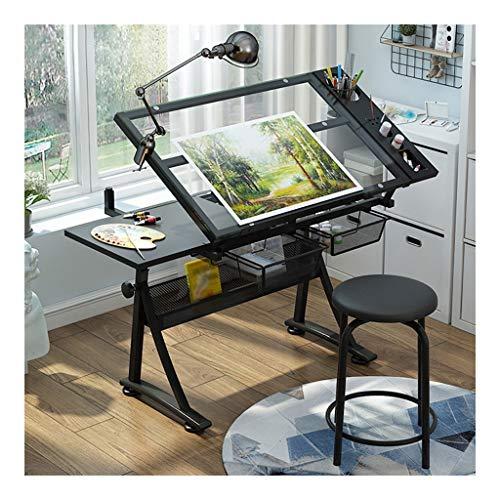 Table à Dessin Inclinable,Bureau réglable en Hauteur for les Architectes Ingénierie Bureau Beaux Arts Cours de Travail Peinture (Color : B)