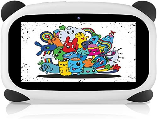 HANYEAL Tableta para niños con WiFi Bluetooth 7 Pulgadas 1024x600 Tableta para niños Android 9.0 Quad Core 2GB 32GB Funda para Tableta a Prueba de niños con cámara Dual Educativo Niños (Negro)