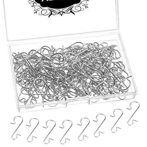 MELLIEX Crochet de Noel - 120 Pièces Crochets d'Ornement de Noël Cintre en Forme de S pour la Décoration d'arbre de Noël