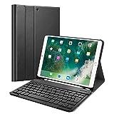 Finite Coque Clavier pour iPad Air 3 2019 / iPad Pro 10.5' 2017 [AZERTY] - Etui Housse SlimShell avec Porte-Crayon, Clavier Bluetooth sans Fil Détachable Magnétiquement, Noir (DEEE n° M3209)